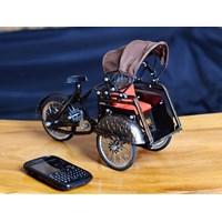 Miniatur Becak Pedicab Miniature
