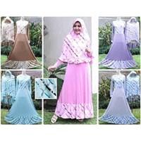 Jual Baju Muslim Wanita motif garis