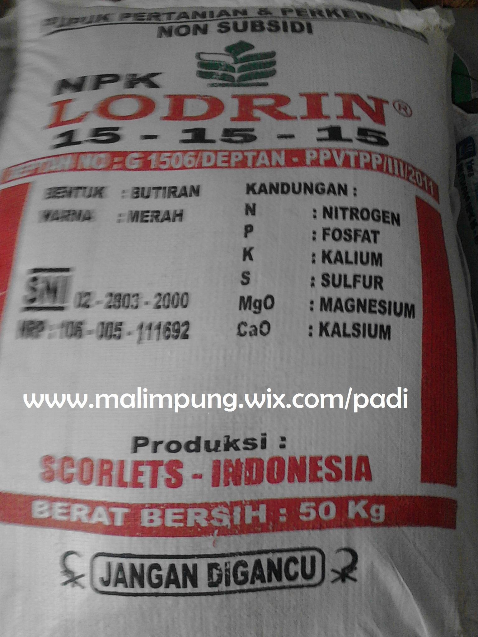 Jual Pupuk Npk Lodrin 15 15 15 Harga Murah Makassar Oleh