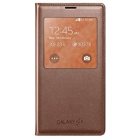 S-View Cover Case Galaxy S5 Rose Gold Original