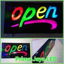 Lampu LED Open Nike Warna Warni
