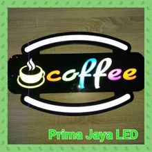 LED Sign Coffee RGB Color