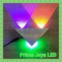 Jual Lampu LED Interior Dinding Segitiga 3 Watt
