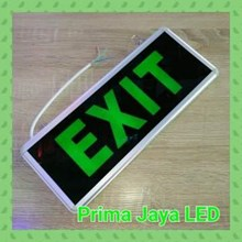 Lampu LED Emergency Exit Sign Model Kaca