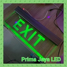 Lampu LED Green Sign Exit Premium Glass 25 X 160 C