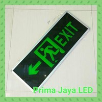 Jual Lampu LED Sign Exit Besar Dua Arah 30 X 80 Cm Hijau