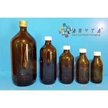 Botol kaca coklat 150ml 200ml 300ml 500ml 1 liter