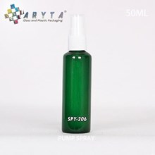 Botol kaca hijau 50ml tutup spray