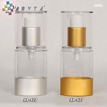 Airless elips 20ml bening tutup emas & silver