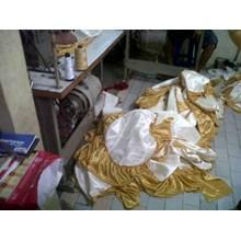 SARUNG KURSI WARNA PUTIH + GOLD
