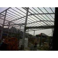Sell construction of steel and iron warehouse