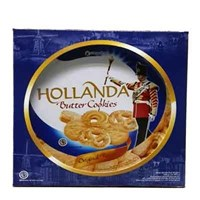 Hollanda Butter Cookies 1 KARDUS (ISI 6) 600 G
