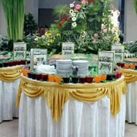 Sell cover round table buffet