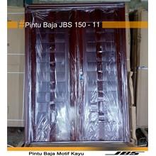 Pintu Besi Motif Kayu JBS Type 150.11