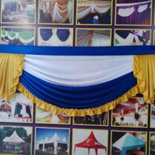 Rumbai dekorasi tenda