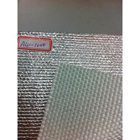 Fiberglass cloth coated with aluminum foil