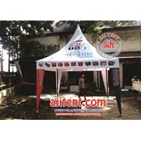 Jual Tenda Kerucut Full ctak Branding
