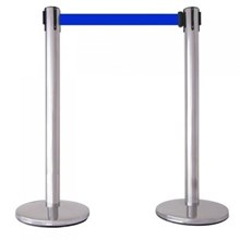 Stainless Ribbon Queue columns