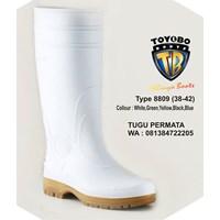 Sepatu BOOT TOYOBO Putih Hijau kuning 8809 8805 8808