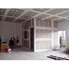 Plumbers Install Gypsum Ceiling Partition Batam