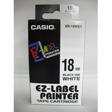 TAPE Casio 18mm XR-18WE1 Black Ink on White Tape
