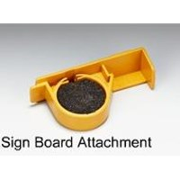 Sign board attachment for cleaner set BUAT CANON MK 2500 SAMA 1500