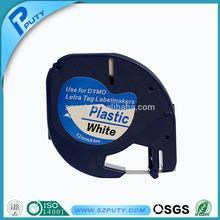 Dymo Letratag plastik pita 12 mm hitam putih