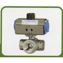 Pneumatic Valves, 3-Way Screw End Ball Valve