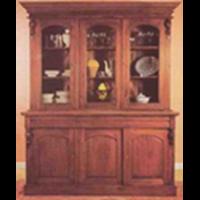 Victotrian 3 Doors Bookcase