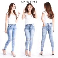 Jual Celana Jeans Highwaist Ripped CK 971 718