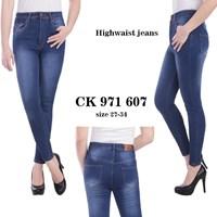 Jual celana highwaist jeans CK 971 607 ( size 31-34)