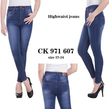 celana highwaist jeans CK 971 607 ( size 31-34)