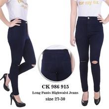 Celana Highwaist Jeans CK 986 915 ( SIZE 31-34)