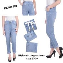Celana Highwaist Jogger Jeans CK 901 902