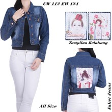 Jaket jeans CW 112 EW 124 (All size)