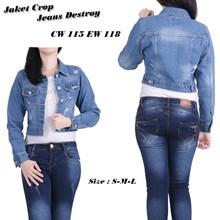 Jaket jeans CW 115 EW 118 (Size S-M-L)