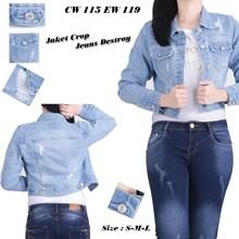 Jaket jeans CW 115 EW 119 (Size S-M-L)