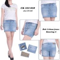 Jual Rok celana jeans kancing 5 CK 555 618 (Size 31-34)