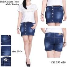 Rok celana jeans model kancing CK 555 620 (Size 27