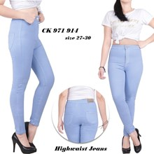 Celana highwaist jeans CK 971 914 (Size 27-30)