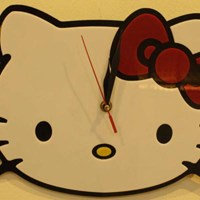 Jual Jam Dinding Hello Kitty