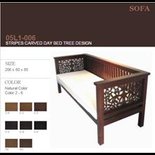 SOFA STRIPES CARVED DAY BED TREE DESIGN