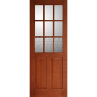 Jual Divided Glass 2 Panel Candy Brown  Finishing