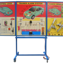 Alat Peraga Trainer Sistem Power Window, Alarm, Central Lock