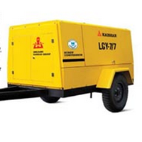 Motor Powered Portable Screw Air Compressors.