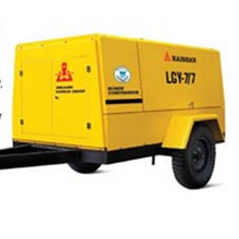 Motor Powered Portable Screw Air Compressors