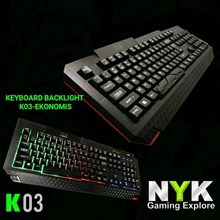 Keyboard Gaming Nyk K-03 Black Axe With Rainbow Backlight Led