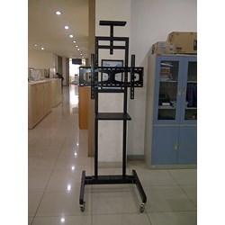 Bracket Tv standing Besi Holo dua tiang model H