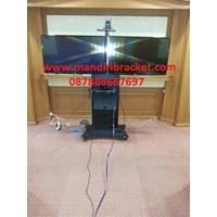 Bracket Tv Stand kupu-kupu full pagar&dua rak dvd