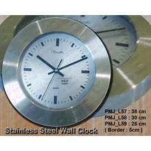 PMJ_ L57_ 58_ 59 SS WALL CLOCK - JAM PROMOSI - JAM DINDING